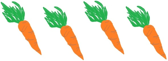 Trattoria Stefano earns four out of five carrots. Graphic designed by Holly Tierney-Bedord. All rights reserved.